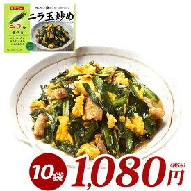 ぱぱっと逸品 ニラ玉炒めのたれ 10袋セット 55g×10袋 調味料 ダイショー ニラ玉 たれ タレ
