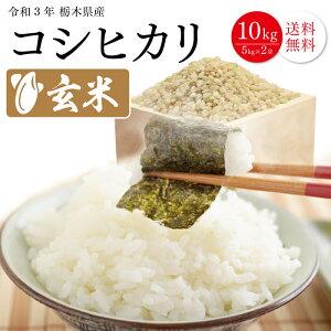【玄米】 栃木県産 コシヒカリ 10kg (5kgX2) 玄米 令和2年 送料無料 令和二年産 栃木 こめ コメ 米 10キロ 銘柄米 ブランド米 単一原料米