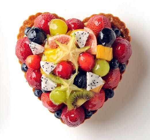 ハート型ミックスフルーツタルト お誕生日ケーキ、バースデーケーキ用に! 記念日 ☆ 【バースデイケーキ】