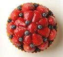 誕生日ケーキ バースデーケーキ 記念日ケーキ フルーツケーキ いちごとブルーベリーのタルト16cm(5号) 記念日 ☆ 【…
