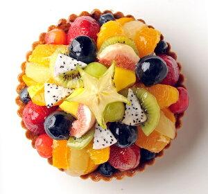 バースデーケーキ 誕生日ケーキ フルーツケーキ 記念日ケーキ ミックスフルーツタルト16cm(5号) 誕生日ケーキ用に!【バースデイケーキ】【記念日】【楽ギフ_名入れ】