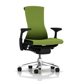[HermanMiller] エンボディチェア(Embody Chair)【シートタイプ:バランスファブリック】【ポリッシュドアルミニウムベース】【グラファイトカラーフレーム】【完成品/家財便配送/梱包材処分費込】ハーマンミラーアーロンチェア後継機/EGP