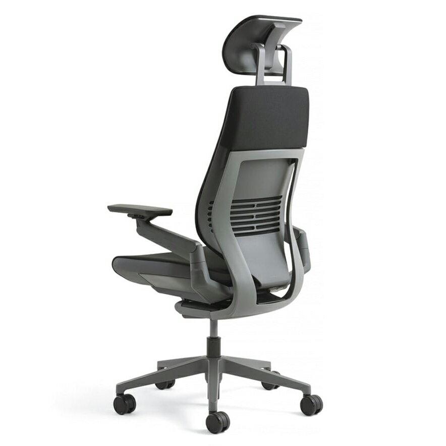 [Steelcase] Gesture(ジェスチャー) / ヘッドレスト付 / 背シート:3Dニット / 座シート:クロス(Connect) / 360アーム:フルアジャスタブル(可動肘)/ ラップバック / フレーム:ダーク / ベース:ダーク【完成品/家財便配送/梱包材処分費込】