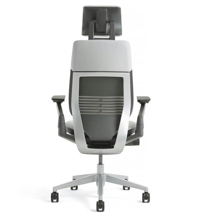 [Steelcase] Gesture(ジェスチャー) / ヘッドレスト付 / ランバーサポート付 / 背シート:3Dニット / 座シート:クロス(Connect) / 360アーム:フルアジャスタブル(可動肘)/ ラップバック / フレーム:ダーク / ベース:ライト【完成品/家財便配送/梱包材処分費込】