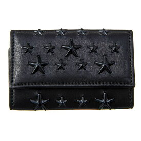 ジミーチュウ キーケース メンズ レディース ブラック JIMMY CHOO NEPTUNE ENL BLACK/BLACK ブラック 誕生日 ブランド かっこいい プレゼントにも 高級 20代 30代 40代 50代 60代