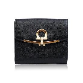 フェラガモ Ferragamo 財布 二つ折財布 22C877 673998 ブラック レディース 誕生日 ブランド プレゼントにも 高級 20代 30代 40代 50代 60代
