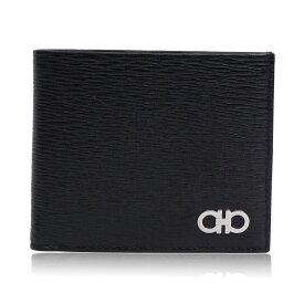フェラガモ 財布 二つ折財布 66A065 685987 ブラック/ブルー メンズ 誕生日 ブランド かっこいい プレゼントにも 高級 20代 30代 40代 50代 60代