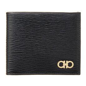 フェラガモ 二つ折り財布 財布 ブラック メンズ Ferrgamo 66A065 685980 誕生日 ブランド かっこいい プレゼントにも 高級 20代 30代 40代 50代 60代 ポイント消化