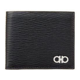 フェラガモ 二つ折り財布 財布 ブラック メンズ Ferrgamo 66A065 685986 誕生日 ブランド かっこいい プレゼントにも 高級 20代 30代 40代 50代 60代