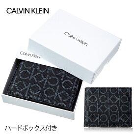 カルバンクライン CALVIN KLEIN 財布 メンズ 79463 BLACK 新柄 二つ折り財布 ブラック 誕生日 ブランド かっこいい プレゼントにも 高級 ポイント消化