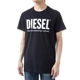 ディーゼル メンズ Tシャツ 00SXED 0AAXJ 900 ブラック DIESEL 半袖 ブランド かっこいい 誕生日 プレゼント