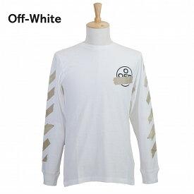 【タイムセール】オフホワイト メンズ ロンT OMAB001R201850020148 ホワイト 白 OFF-WHITE ブランド 誕生日 プレゼント 新品 20代 30代 40代 送料無料