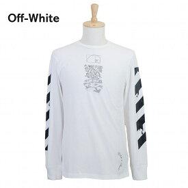 【タイムセール】オフホワイト メンズ ロンT OMAB001R201850050110 ホワイト OFF-WHITE ブランド 誕生日 プレゼント 新品 20代 30代 40代 送料無料
