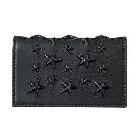 【キャッシュレスで5%還元】ジミーチュウ カードケース ユニセックス ブラック JIMMY CHOO NELLO ENL BLACK/BLACK