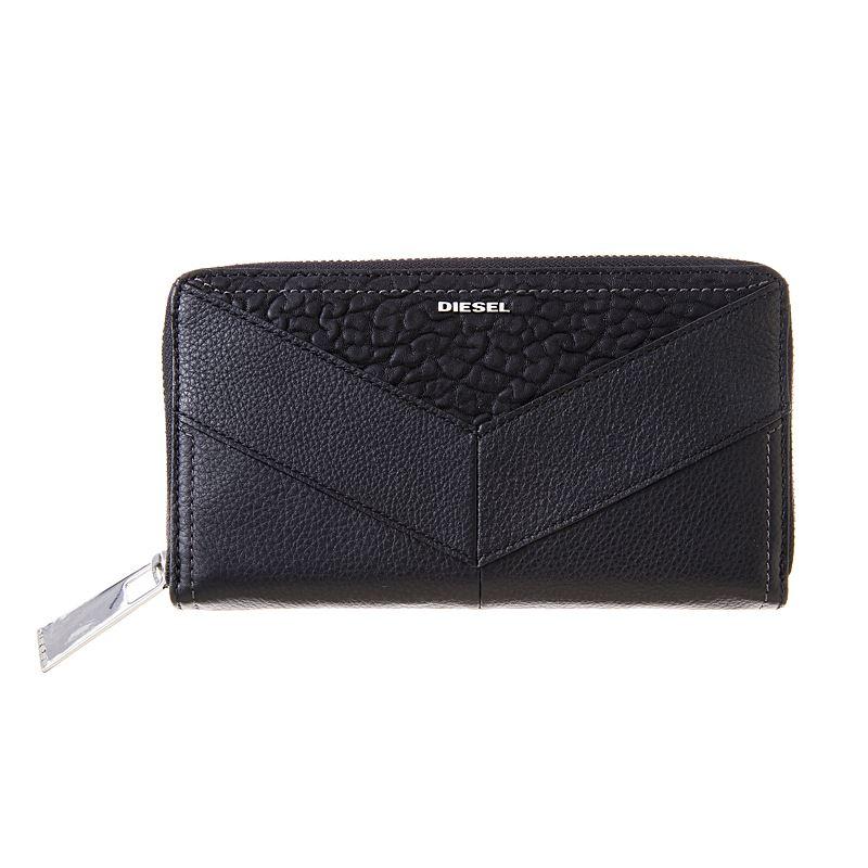 ディーゼル 財布 DIESEL X03687 P0804 T8013 BLACK ラウンドファスナー長財布 母の日セール