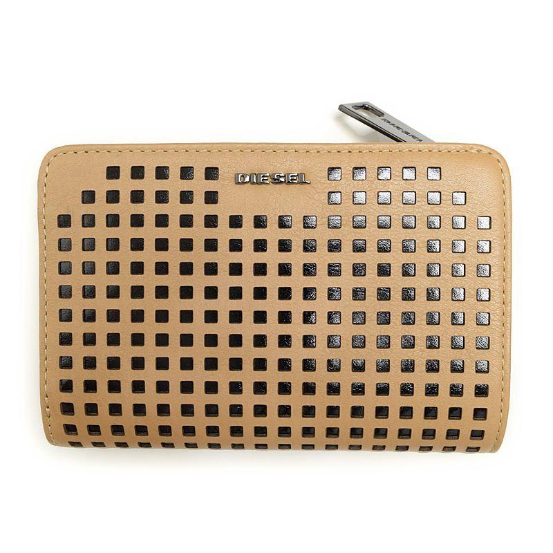 ディーゼル DIESEL X03683 PR317 H5988 CROISSANT/BLACK 二つ折り財布 オータムセール