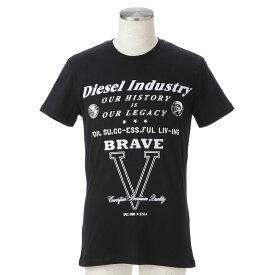 ディーゼル tシャツ メンズ DIESEL 00SQRS 0091B 900 誕生日 ブランド かっこいい プレゼントにも 高級 20代 30代 40代 50代 60代 ポイント消化
