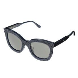 ボッテガヴェネタ サングラス アジアンフィット メンズ レディース レンズ/グレー テンプル/ネイビー BOTTEGA VENETA BV0035SA-005 51 ポイント消化 アウトレット 在庫処分