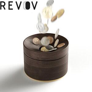小銭入れ 小物入れ 貯金 レヴォ Revov 天然木 天然ブナ コイン収納 コインケース 収納ケース 小物収納 インテリア 貯金箱 コインバンク 小銭管理 BOX ボックス