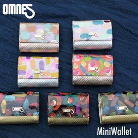 OMNES JUMBLEシリーズ 鹿革とリアルフェザーのコンパクト ミニウォレット オムネス エナメルフィルム 財布 ミニマリスト 小型 薄型 ミニ財布 薄い 極小財布