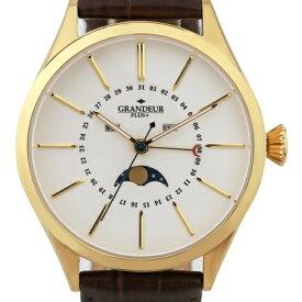 ムーンフェイズ表示機能搭載した腕時計【GRANDEUR PLUS+ GRP011シリーズ(グランドールプラス)】月表示・日付表示・曜日表示/メンズウォッチ/想いを繋ぐ百貨店【TSUNAGU】/マルゼキ