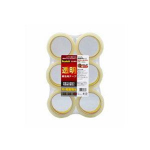 ガムテープ OPP 透明梱包用テープ 6巻パック 軽・中量物封かん用 15まで 幅48mm×長さ50mm 1パック6個入 スリーエム EC-313-6PN