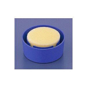 切手、印紙などに! 丸型スポンジケース 抗菌スポンジ使用 1個 オープン EC-R-1