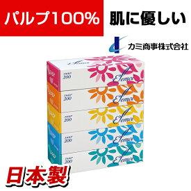 カミ商事 エルモアティッシュ 400枚(200組)×5箱