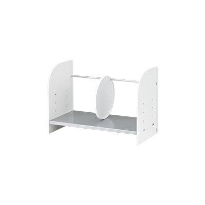 ブックラック 机上ラックS 幅458×奥行220×高さ320mm 4段階高さ調整可能 耐荷重:約10kg(均等)/YS-150 小物 ファイル 本棚 ラック 机上ラック PCラック デスクラック デスク収納 上置き棚 上置棚
