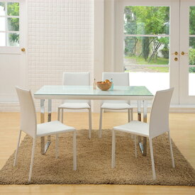 CUORE(クオーレ) ダイニングテーブル ガラステーブル 幅1350×奥行800×高さ730mm シンプル クール モダン ホーム 家具 リビング ダイニング