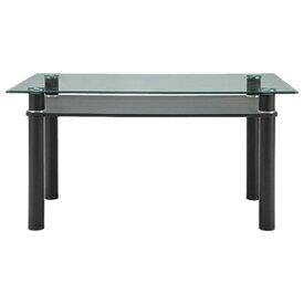 LUCID(ルシード) ダイニングテーブル ガラステーブル 幅1400×奥行850×高さ730mm クール モダン ホーム 家具 リビング ダイニング