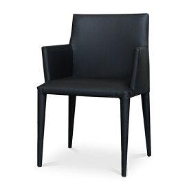 Comfy(コンフィー) Black Line PenII Chair (ペンII チェア) スチールレザーイス 肘付き 幅540×奥行540×高さ815mm 座面高さ450mm SK-Pen-A