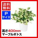 観葉植物 人工 樹木 マーブルポトス 高さ400mm Pサイズ 鉢:CV-06