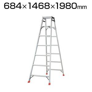 TRUSCO ハシゴ兼用脚立 アルミ合金製・脚カバー付 高さ1.98m スタンダードタイプ THK-210トラスコ中山 はしご 梯子 脚立 はしご兼用脚立 踏み台 ステップ数6段 おしゃれ 足場 現場 機材 踏台 階段