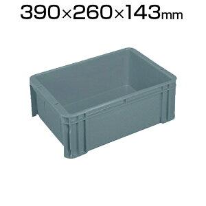 ヒシ S型コンテナ 有効内寸340×230×128mm グレー S-10