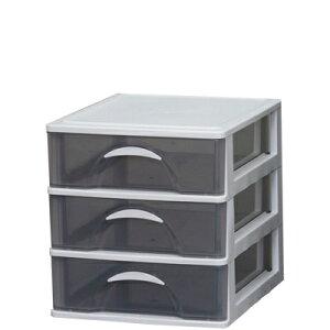 デスクチェスト 引き出し 机上収納 深型3段 A4ファイル対応 /幅312×奥360×高さ329mm 収納ケース 収納ボックス 整理ケース 机上棚 シェルフ デスクラック 小物入れ 書類整理棚 封筒 書類ケース