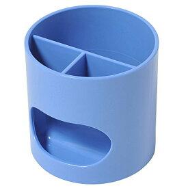【849円×1セット】プラス ペン立て ウィッティパーティ WP-110N 30-756 ブルー