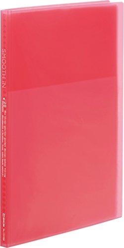 キングジム クリアーファイル スムーズイン A4 20ポケット(小口10枚) 173TSM赤