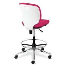 PLUS(プラス)オフィス家具 Presea ホワイトシェルタイプ ローバック 肘なし ハイタイプ W(幅)610 D(奥行き)560 H(高さ)