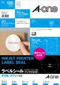 エーワン ラベルシール インクジェット 光沢紙 12面 丸型 10枚 29225(5セット)