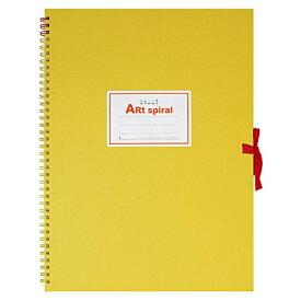 マルマン F6 スケッチブック アートスパイラル 24枚 厚口画用紙 イエロー S316-04