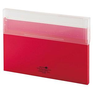 【380円×1セット】リヒトラブ コングレスケース A4薄型 赤 A5035-3