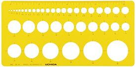 【ゆうパケット配送可】ウチダ テンプレート No.101M 円定規 インキエッジ付 1-843-0111