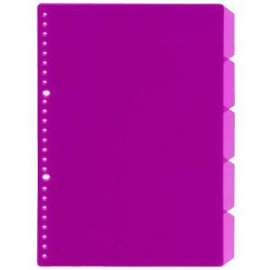 【125円×10セット】B5 26穴バインダー用インデックス5段【ピンク】 JHP02P(10セット)