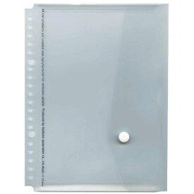 A5 20穴バインダー用フラップ付ポケット【透明】 JHP03T(10セット)