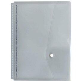 A4 30穴バインダー用フラップ付ポケット【透明】 JHP05T(10セット)