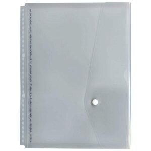 【142円×1セット】A4 30穴バインダー用フラップ付ポケット【透明】 JHP05T