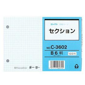 コレクト 情報カード B6 セクション 2穴 C-3602(10セット)
