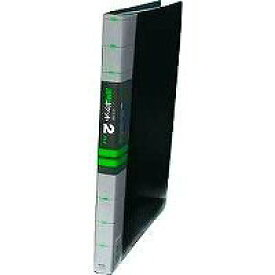 【2212円×1セット】コレクト 透明ポケット2ファイル 黒 A4L30穴 S-842-BK
