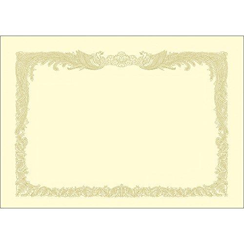 タカ印 OA賞状用紙 10-1177 縦書き クリーム ケント紙 B4 100枚入